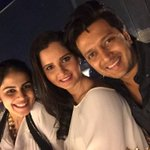 Wishing my Dearest @mirzasania a very Happy Birthday- time to party. मै टाईम पे आया हू।.@geneliad https://t.co/S3IMlUE0x8