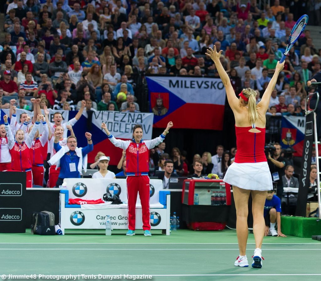 What an honor to play for this team!! This picture says it all!! Thank you Prague for an incredible weekend. #Fedcup https://t.co/qSWsgpvpQO