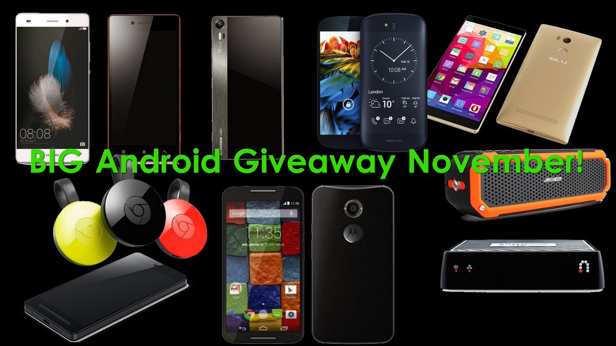 BIG Android Giveaway November is HERE!  10 Android PRIZES!!! #Android #Giveaway #Contest https://t.co/p2XzhfrVm3 https://t.co/IAdhL710rh