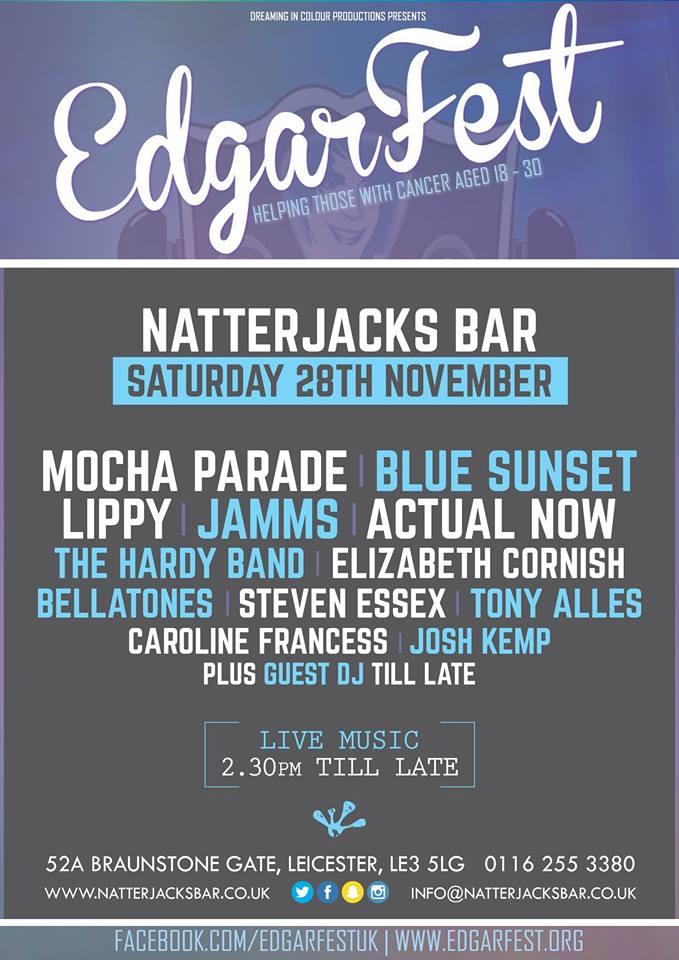 Line up for @natterjacksbar on Sat 28/11 @EdgarFest_UK #awesome https://t.co/1L3EdG7DiH