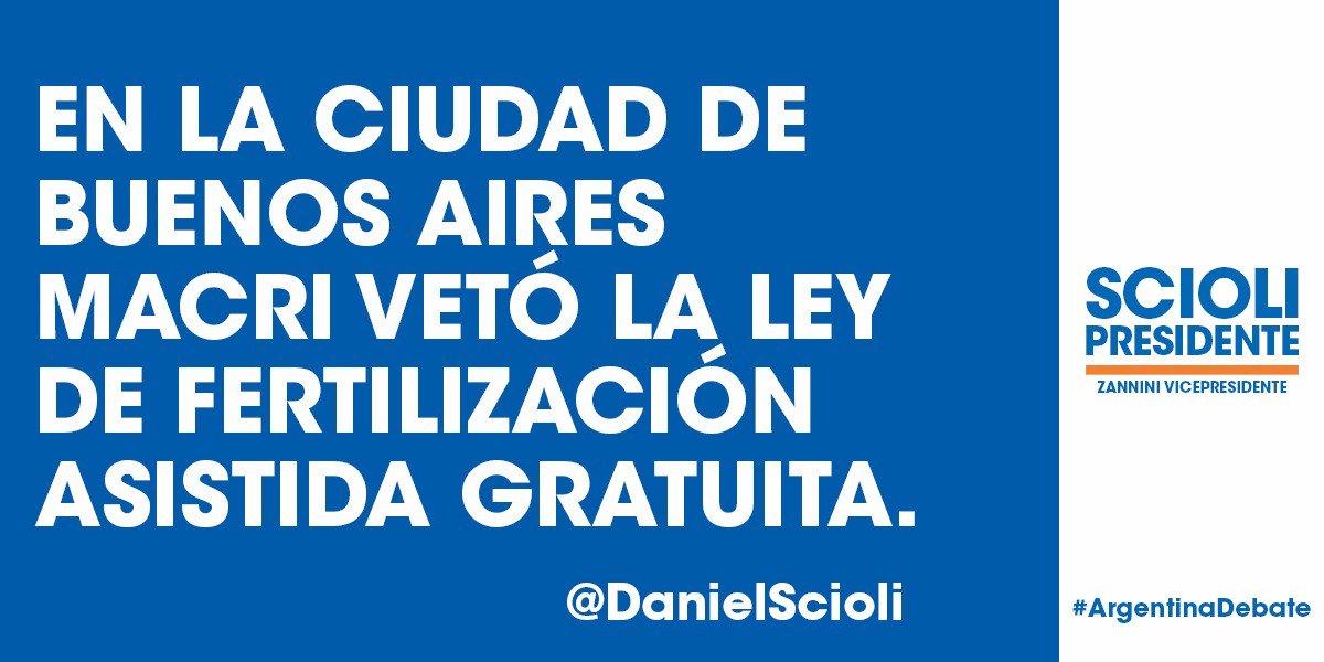 En la Ciudad de Buenos Aires Macri vetó la Ley de Fertilización Asistida Gratuita* #ArgentinaDebate https://t.co/gkv0fq092n