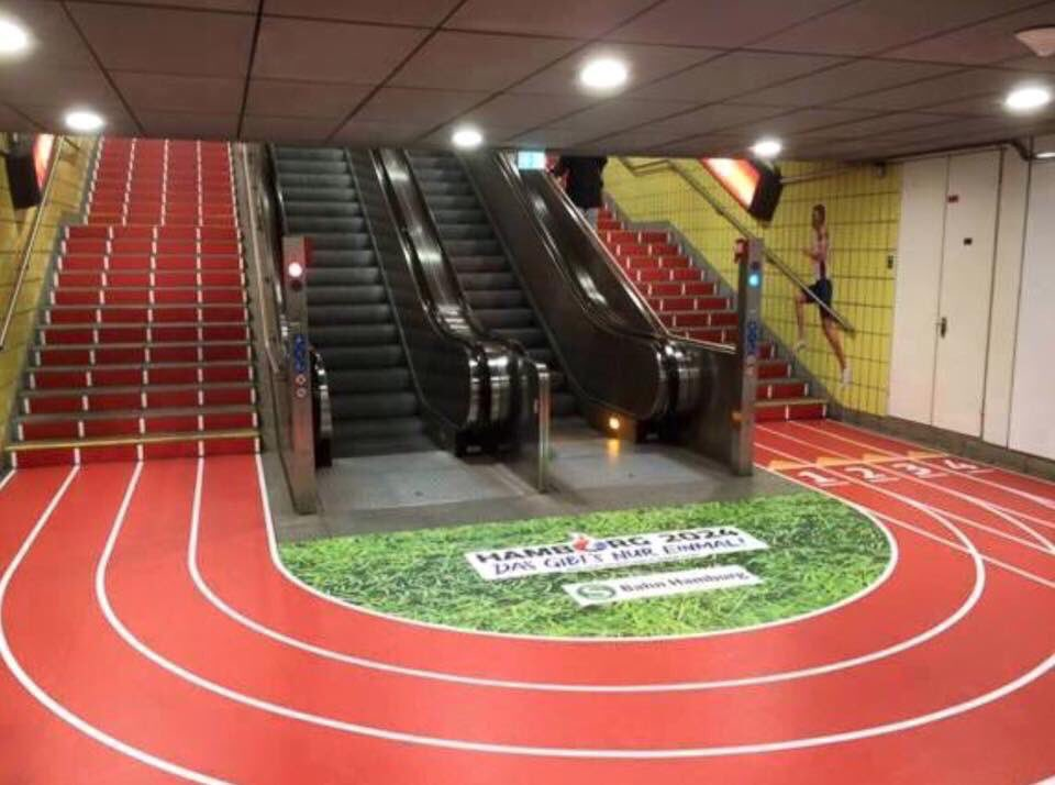 You just know every athlete would take the stairs and race those using the escalator! https://t.co/r3aJeOSMAo