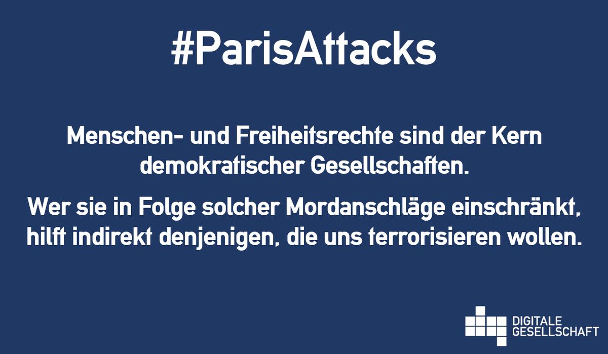 Anschläge von Paris: Besonnene Antworten statt mehr Überwachung. https://t.co/D8jSQvsVvA #ParisAttacks #JeSuisParis https://t.co/3jgMAE2yDa