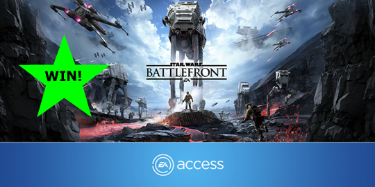 Retweet to win 1 month's EA Access and 10 hours of #StarWarsBattlefront https://t.co/pvwWeQge2q #PLAYITFIRST https://t.co/zXko7N6iy4