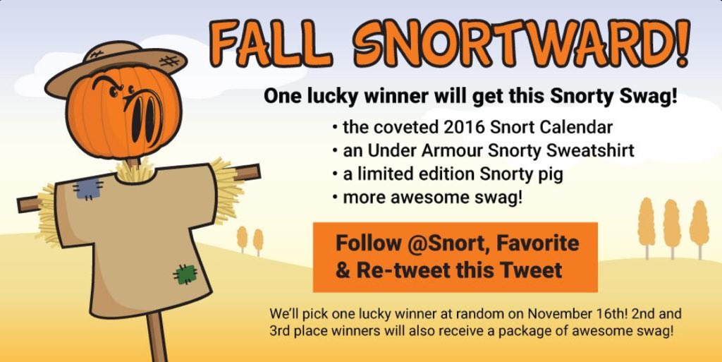 Today is your last chance to win Snorty Swag! Competition ends at 5PM ET! Don't miss out! https://t.co/Ozi4eEilos