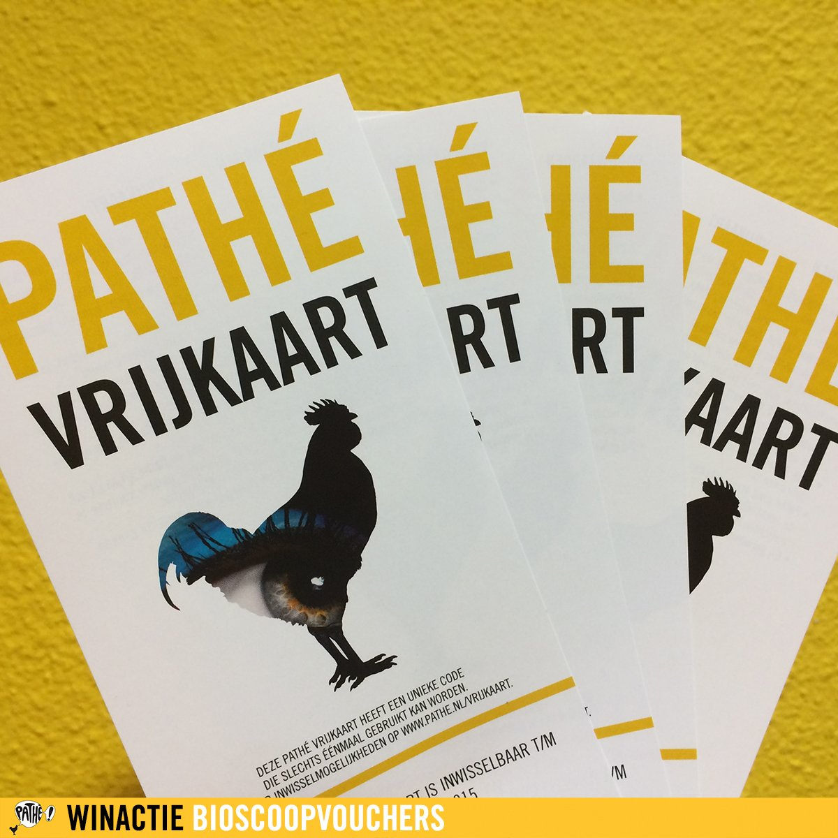 Follow @Pathe & retweet om kans te maken op 2 tickets voor de bioscoop :-) #Pathe https://t.co/8th03DvG66