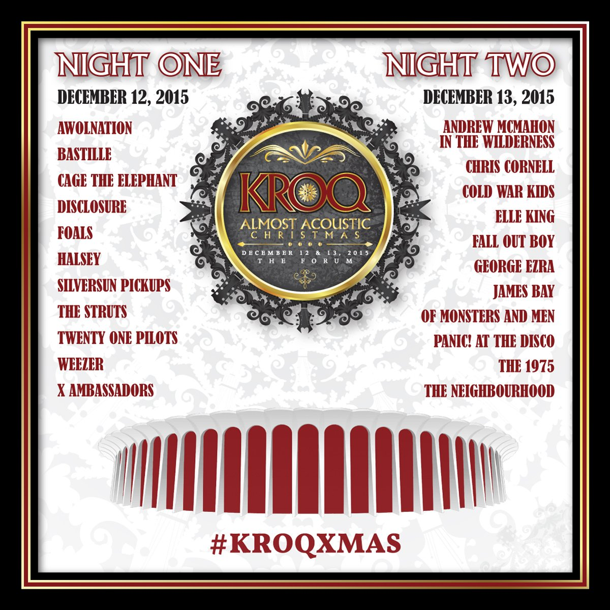 KROQ Almost Acoustic Christmas 2015 Lineup & Details https://t.co/ukgApZGwTo #KROQXMAS https://t.co/Lf6lS9euBl