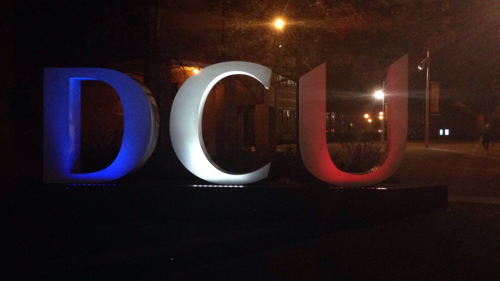 We stand in solidarity with #Paris in the hope for peace and safety around the world @DublinCityUni #dcu https://t.co/uMOvbiDt19