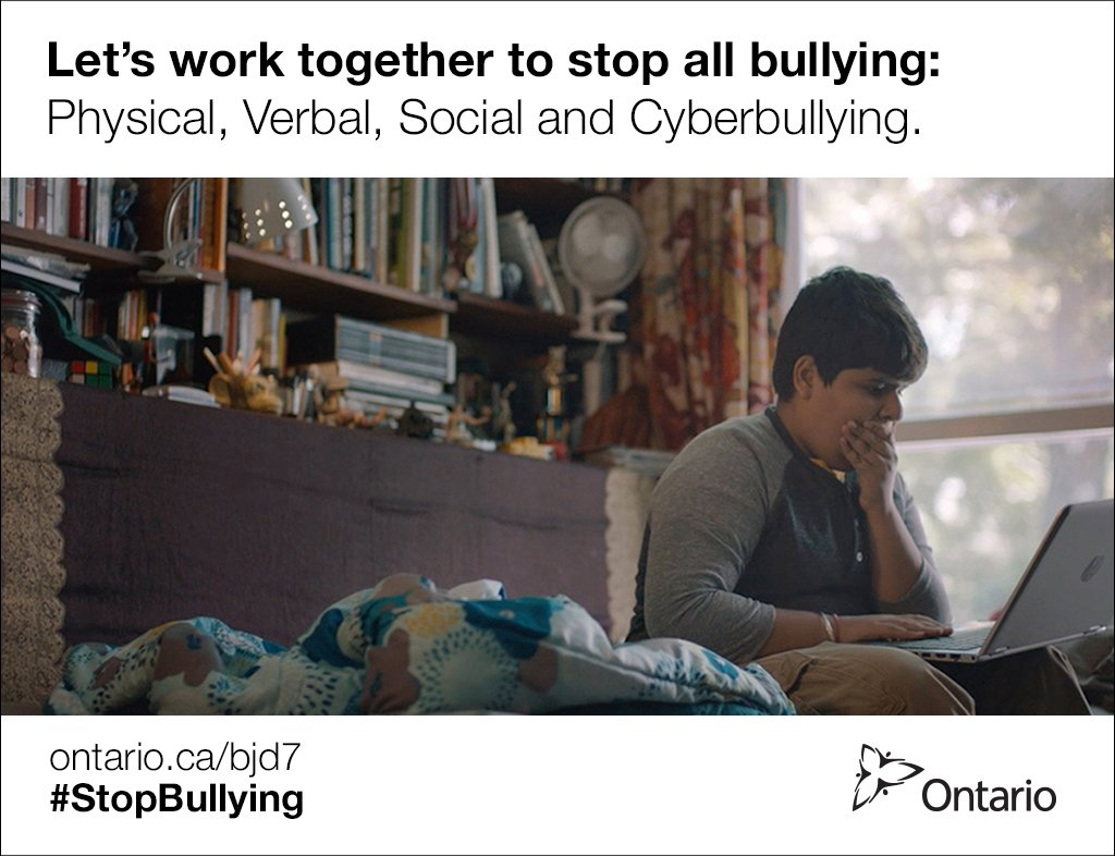 Ontario acknowledges Bullying Awareness and Prevention Week, November 15-21. #StopBullying https://t.co/TsxTpT3rZT