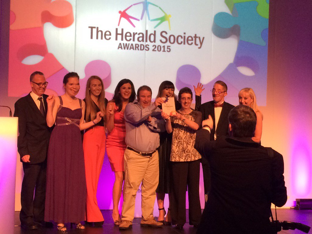 We won!!! Thanks to all our members who made our #StopTheBus campaign such a huge success #societyawards15 #proud https://t.co/TK2U5v6oHF