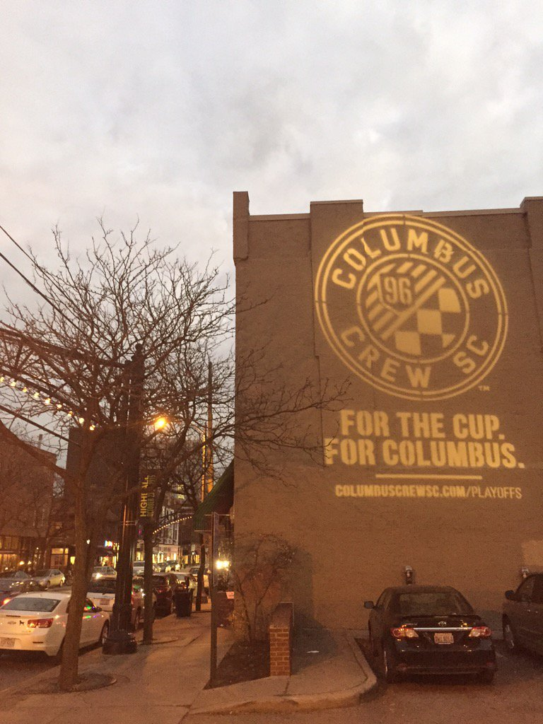 Sun is setting in the Short North and we're getting ready for the playoffs. #CrewSC https://t.co/vXscfKAVgt