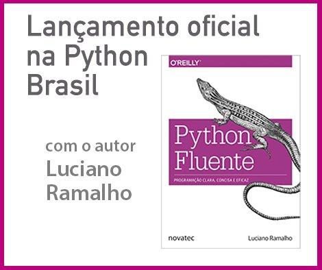 """Lançamento oficial do livro """"Python Fluente"""" na @pythonbrasil, com o autor @ramalhoorg! https://t.co/Jd8TfRAYh0 https://t.co/SxcoKcgvNZ"""