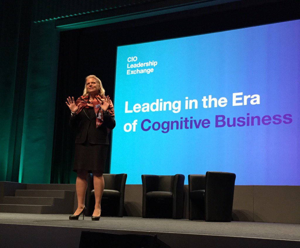 Ginni Rometty opens gathering of hundreds of leaders in Paris to discuss #CognitiveEra @IBM @IBMWatson #cioexchange https://t.co/88fARsdqBt
