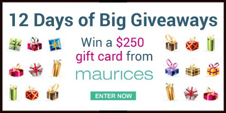 Day 4 of 12 Days of Big Giveaways! Today, $250 GC to @Maurices! Enter: https://t.co/xYEpC1ybKU #SDC12Days https://t.co/nJnx7p7eSv