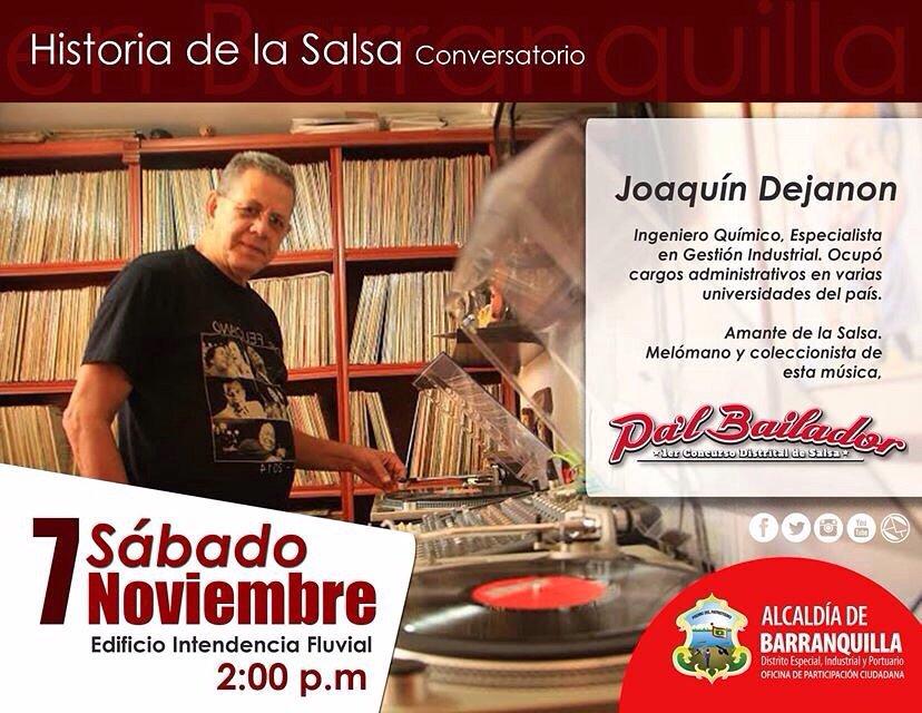Conversatorio para los amantes de la salsa, este sábado en la Intendencia Fluvial. @Participabaq https://t.co/f2dlUnwX0X