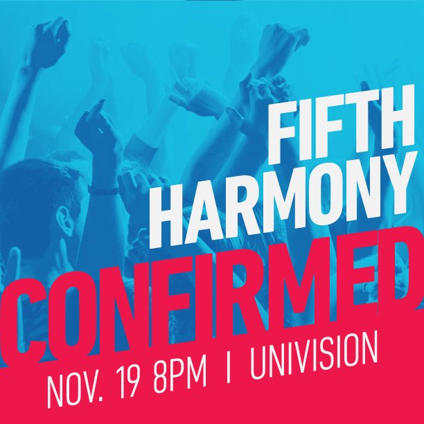 Don't Miss It! @FifthHarmony performing at the 16th Annual #LatinGRAMMY Awards on Nov. 19 https://t.co/Fkhzpb0Q5r https://t.co/fQYhxXVdUe