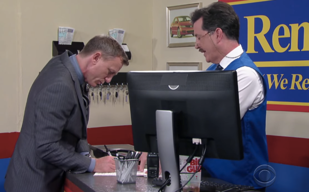 ICYMI: Daniel Craig & Stephen Colbert solved a major James Bond plot hole in a LSSC sketch: