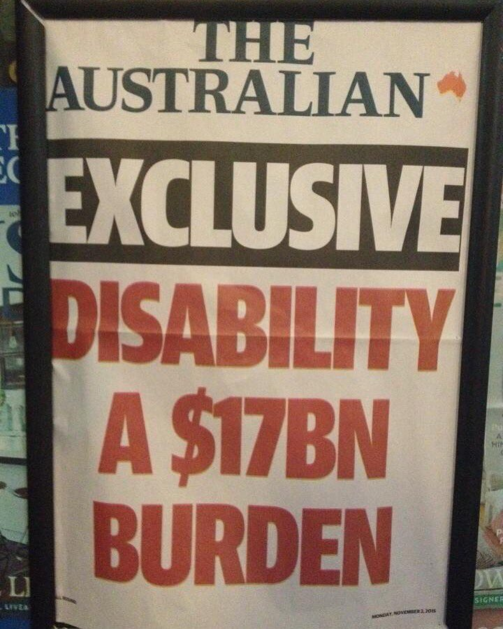 @rupertmurdoch you should be ashamed of this headline. It's bigoted & hurtful to all Australians with a disability. https://t.co/Q3xmnaL9eY