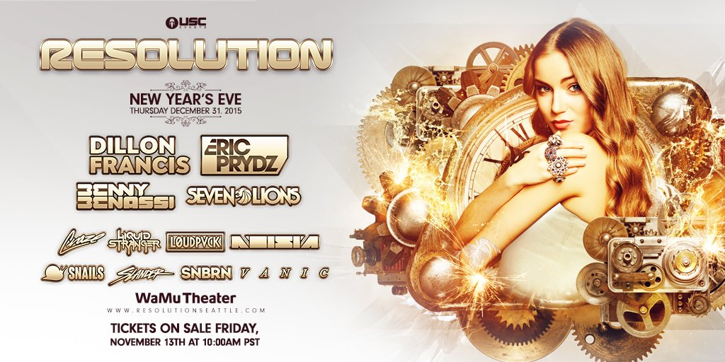 New Years Eve, USC returns with the 5th annual Resolution! The lineup is here & tix go on sale 11/13 at 10am PST! https://t.co/A3kWwkSETq