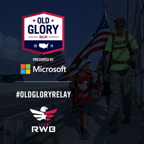 Only a few more days left of the @TeamRWB Old Glory Relay! Let's help them raise the rest of their goal of $100,000! https://t.co/Yfgx6CM2Et