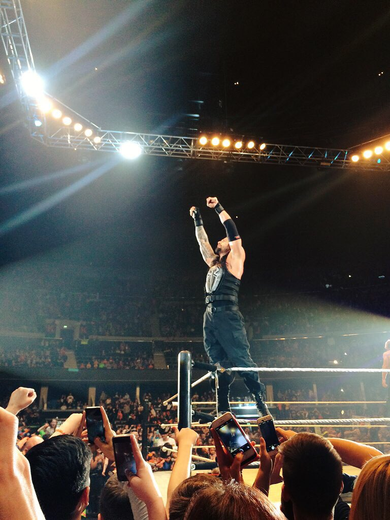 Best part of the night seeing @WWERomanReigns - believe that!! #WWEGlasgow https://t.co/lqYEkmcSVi