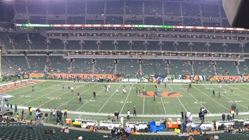 Perfect night for some football in Cincinnati. Go Browns! https://t.co/tP2noUJbJI