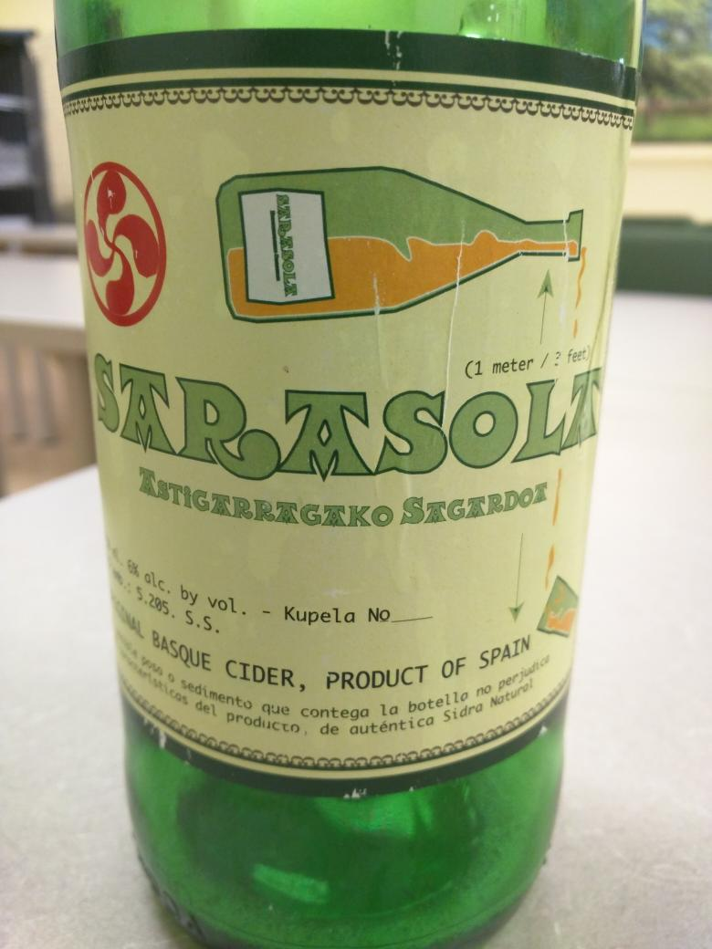 Enjoyed a nice Spanish sidra  tonight. Yum! https://t.co/HPmqPxRrdi