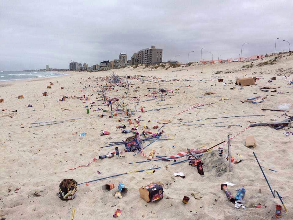 Blouberg beach the morning after #GuyFawkes. Who is going to clean that mess up? #GuyFawkesMustFall https://t.co/s1nMK9dzq8