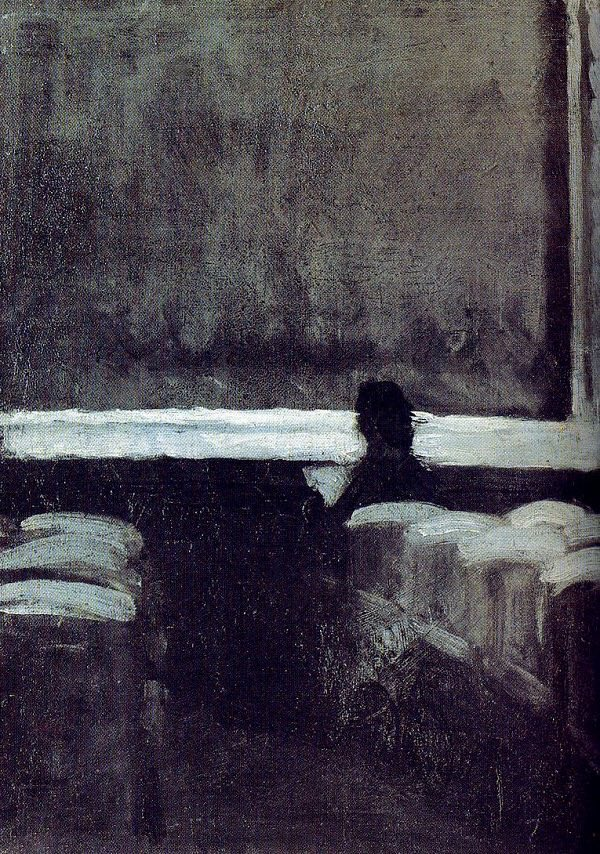 "Solitary figure in a Theater 1903, Edward #Hopper https://t.co/yFDC1xT00B ""@KtrineLeHenan via @KristinAndrene"