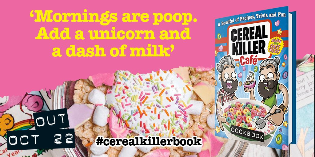 To win a copy of @CerealKillerUK cookbook & cereal box, just RT + follow by 5pm https://t.co/Q6QAHKIEl1