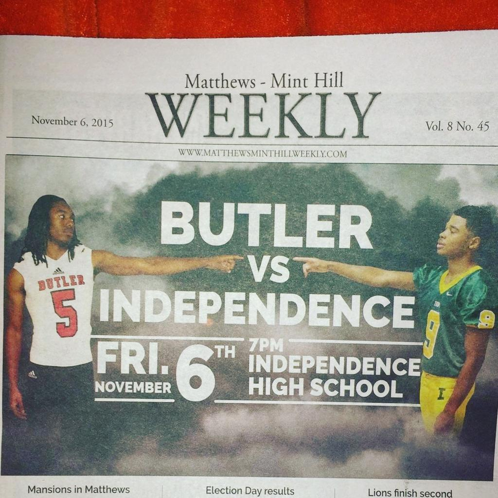 Lil bro on the front page of today's paper. About to get that king of the hill trophy right back. #RIVALRYWEEK https://t.co/nNRKLSX9Jd