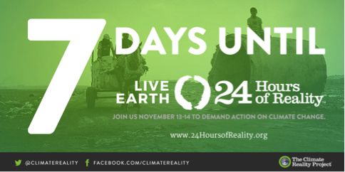 Here's #WhyImWatching: It's our time for #ClimateAction and it starts with #24HoursofReality https://t.co/1UVYQ0HvQ3 https://t.co/FSuA8AjvM6