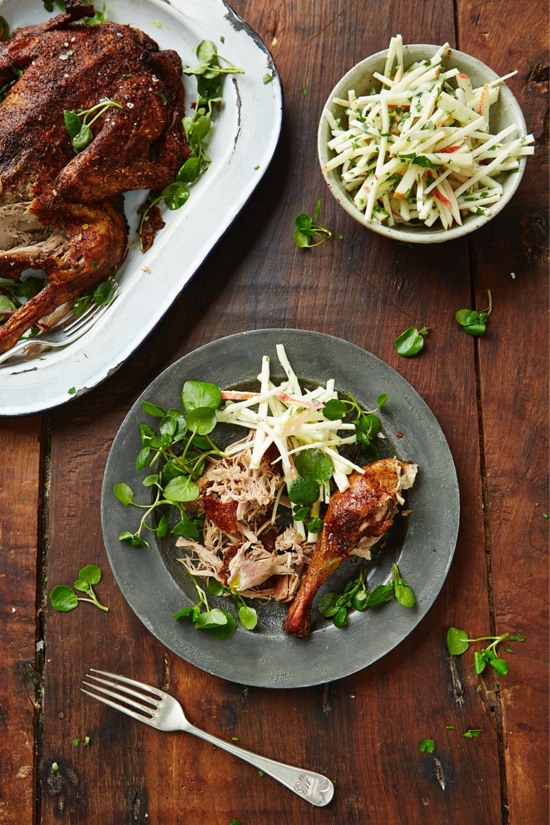 #Recipeoftheday Slow-roasted duck with crunchy celeriac remoulade https://t.co/YNEql528Wg https://t.co/QuO4QYokaY