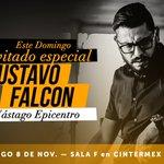 Este domingo invitado especial Gustavo Falcon 11am Sala F en Cintermex ¡No te lo puedes perder! https://t.co/HZFY28cNlh