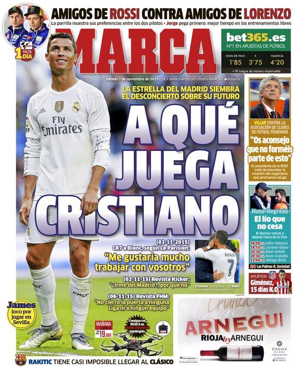 #LaPortada 'A qué juega Cristiano' https://t.co/LMsf2a9JoF