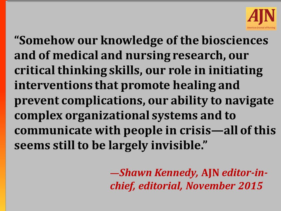 #AJNquoteoftheweek #nursing #WhatNursesDo  To read the editorial in full: https://t.co/u4dKTfpAeh https://t.co/On012qzf4B