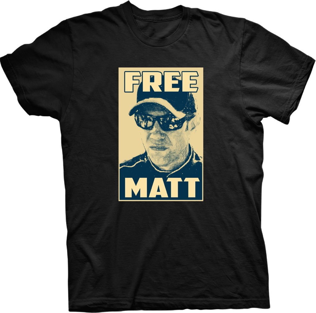 Get your #freematt t-shirt at https://t.co/oR3JCcL7N1. 100 percent of the proceeds go to the DHfoundation. https://t.co/rtVM5SOMyR