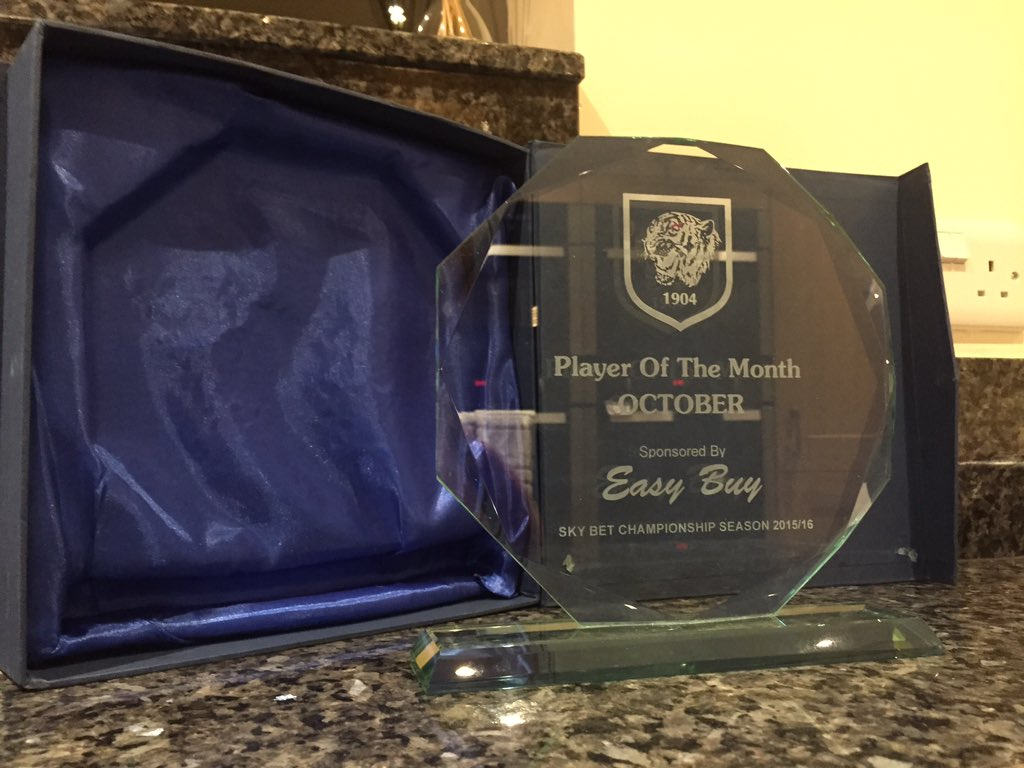 Very Proud to be named player of the month appreciate it, thank u! https://t.co/Wo27JIDmB9