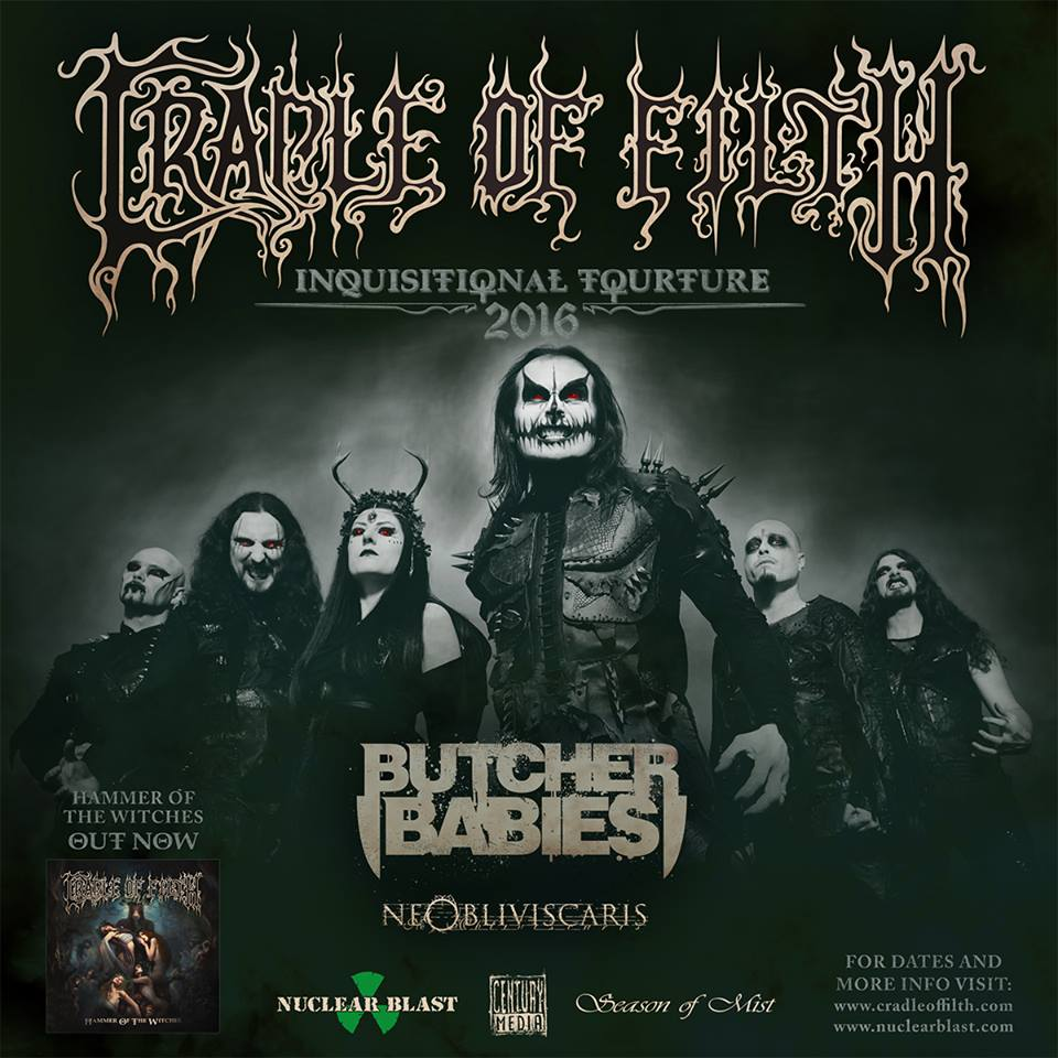 Enter to win tickets to @CradleofFilth's tour with @ButcherBabies and @NeObliviscaris3, at https://t.co/A8EP4rHOZV https://t.co/bCSUa8P9et