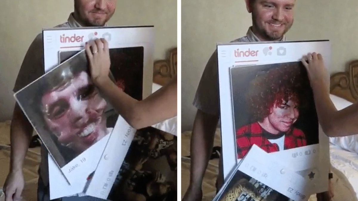 This Guy Went As Tinder For Halloween And It's The Most Clever Costume Ever
