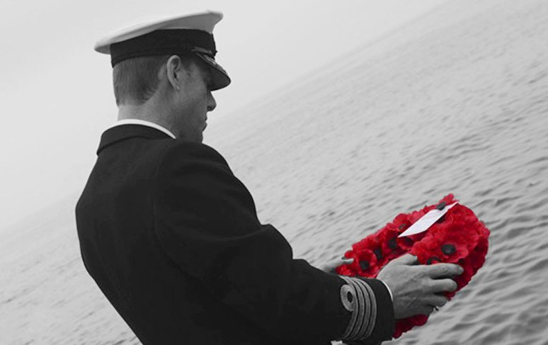 For those who sailed into danger to keep us free, for those who have no grave but the sea. We will remember them. https://t.co/vrMm5HS4Nd