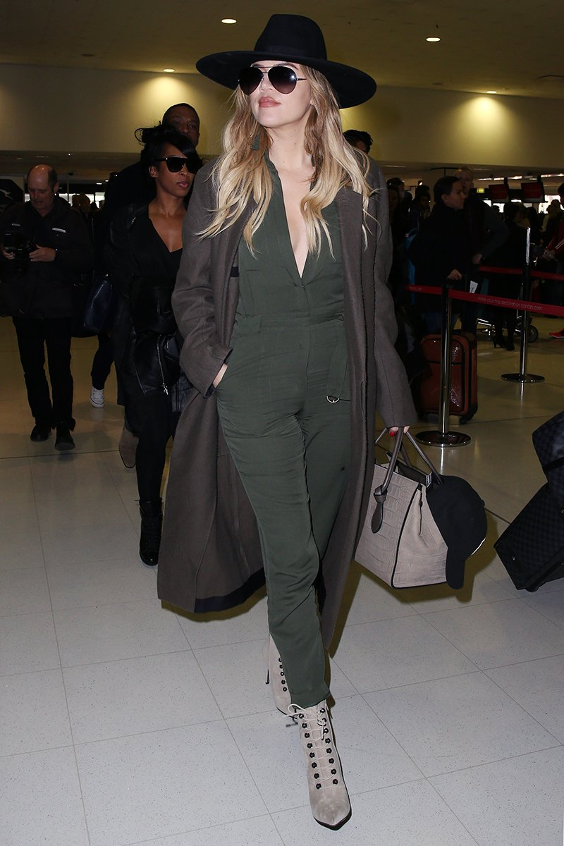 I love a good army green jumpsuit!!! Reppin' the Kardashian brand hard! https://t.co/xZX4pL4UYs https://t.co/BNOwfBeQr9
