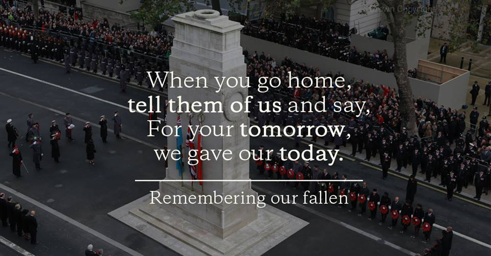 Today, we remember our fallen. #RemembranceSunday https://t.co/vJZHKnEsSU