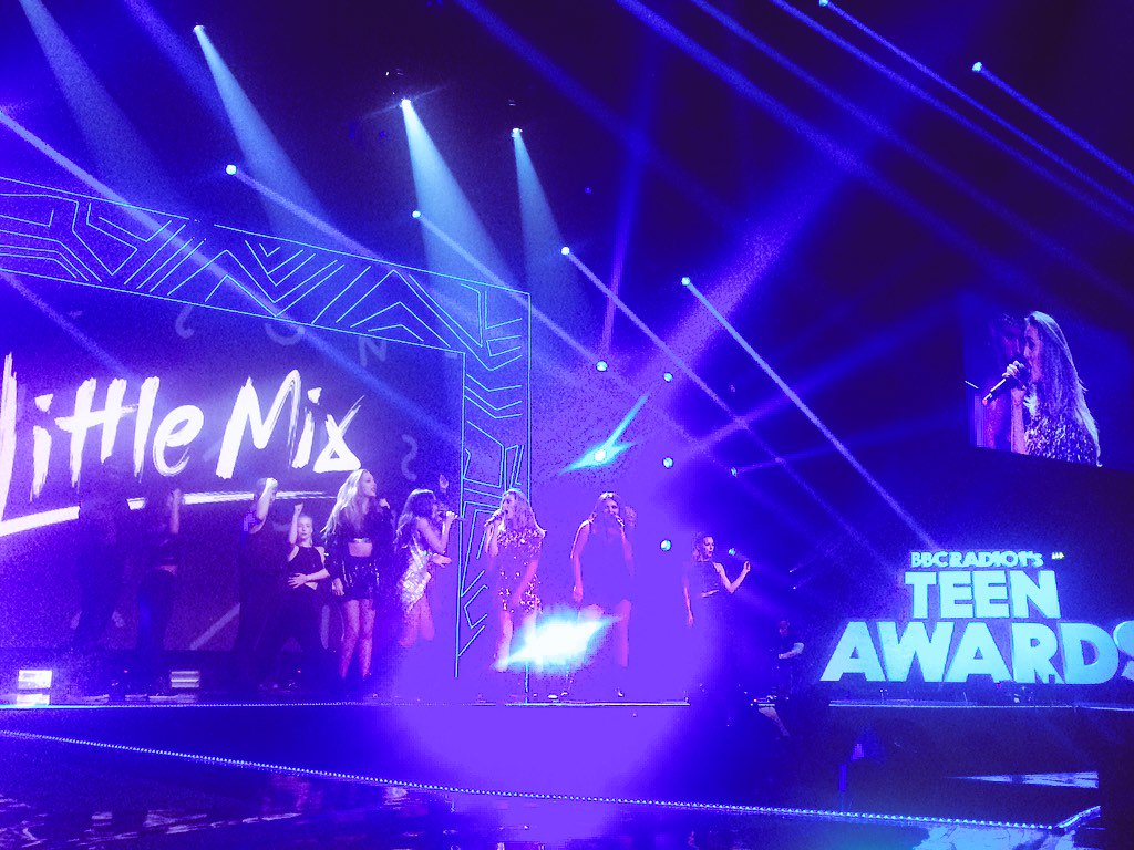 So @LittleMix just smashed it on stage @BBCR1 #R1TeenAwards https://t.co/eHBm58opLd