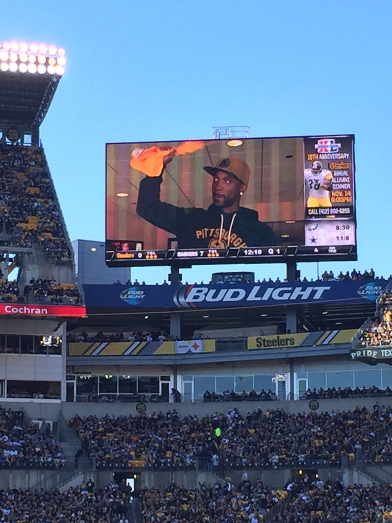 Cutch in a box at the steelers game today! https://t.co/rWsLcTMe1o