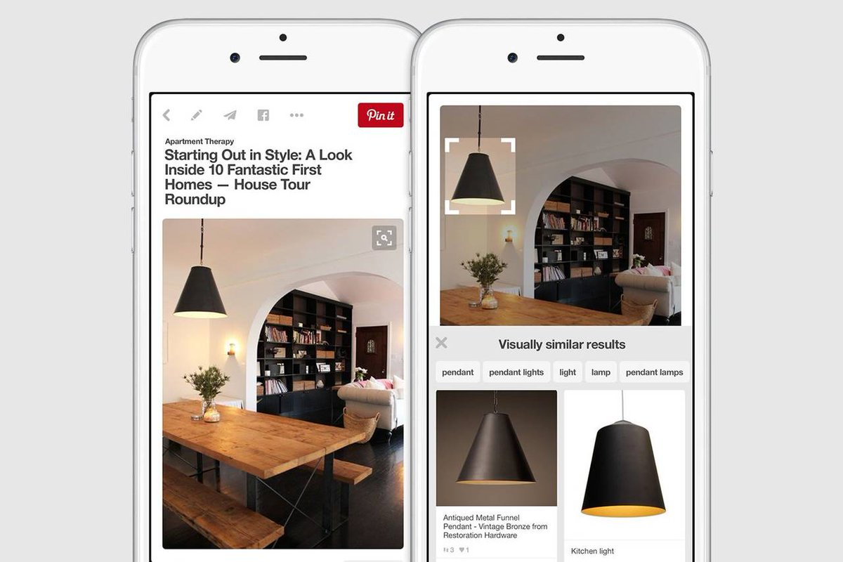 Pinterest to intro tech Monday that lets users search site using images instead of text https://t.co/ltSxXkVZM5 https://t.co/jzKQo0Xr9v