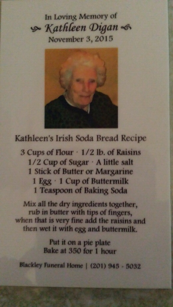 @ireland @CompassionateCP her recipe for Irish soda bread after she died. This is her funeral card, with recipe. https://t.co/UFr5QustIh