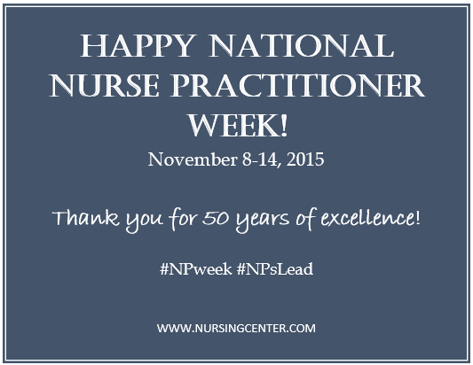 Thank you Nurse Practitioners! Have a great week! #NPWeek #NPsLead https://t.co/6qeNdE1PQD
