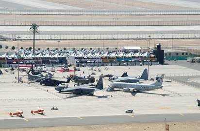 Fantastic overhead shot of @DeptofDefense Corral @DubaiAirshow 2015 courtesy of @Boeing  Thanks! https://t.co/IYEZfcb9hq
