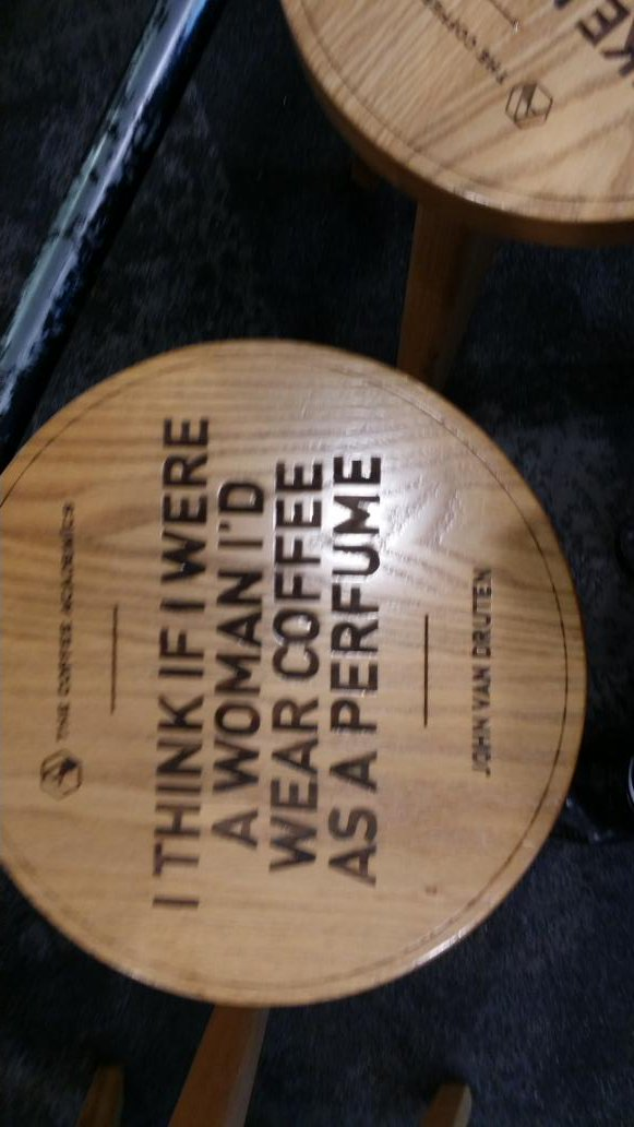 My stool...at TCA....The Coffee Academics https://t.co/m760egzxDO